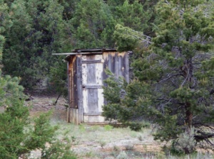 Outhouse at the Turpen Ranch in Pine Haven, NM