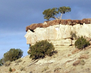 The Davy Crockett Rock, as pointed out to me by a hitchhiker